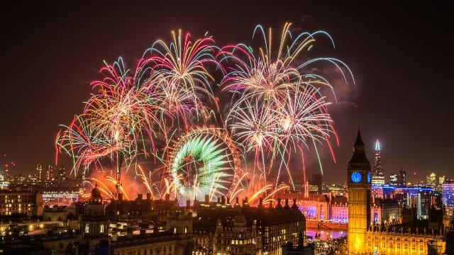 New Year's Eve Fireworks 2016 in London